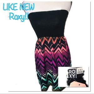 • ROXY | LIKE NEW | Multicolor Mini Dress •